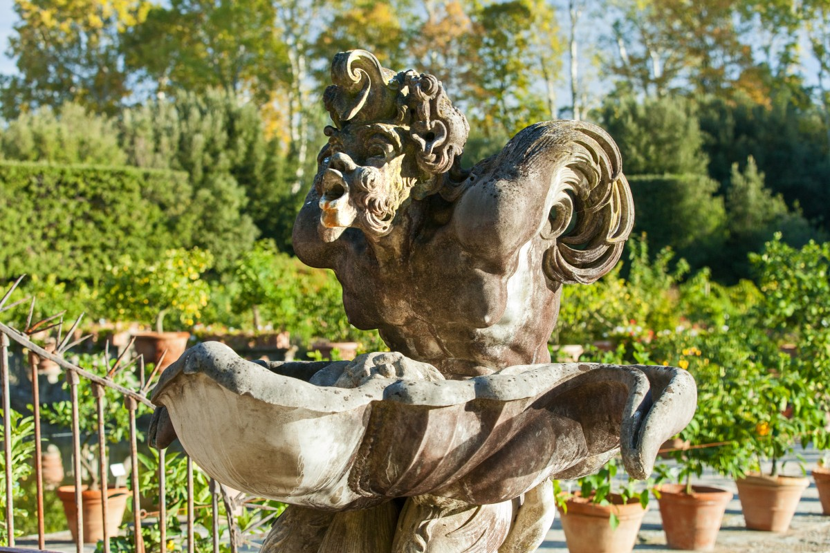Boboli gärten giardini di boboli florenz stockbild bild von