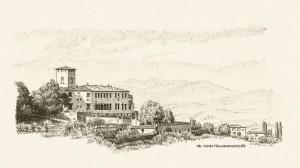 Zeichnung Villa Corsini