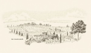 Toskana-Zeichnungen