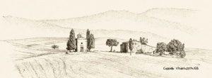 Cappella Vitaleta im Val d'Orcia