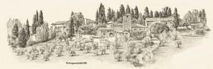 Petrognano, Zeichnung, Chianti