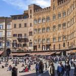 Siena, Piazza del Campo, Toskana