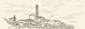 Romola, Chianti, Zeichnung