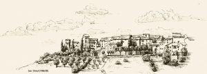 San Donato, Zeichnung, Chianti