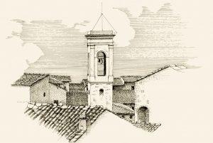 Glockenturm der Chiesa San Michele Arcangelo